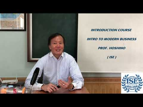 INTRODUCTION COUSRE INTRO TO MODERN BUSINESS - PROF. HOSHINO
